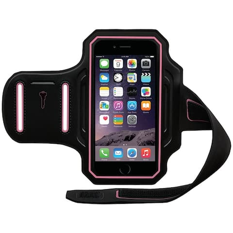 "BODY GLOVE 4.7"" Cell Phone Case for Fits iPhone 6 - Retail Packaging - Black/Pink"