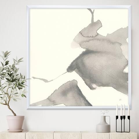 Designart 'minimal geometric Zen V' Transitional Framed Art Print