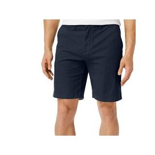 Tommy Hilfiger Mens Khaki, Chino Shorts Pleated Flat Front