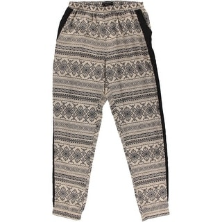 Romeo & Juliet Couture Womens Pattern Flat Front Casual Pants - M