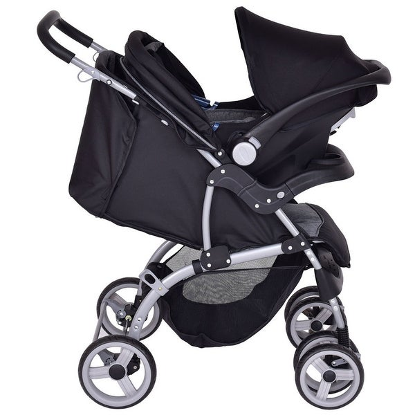 Shop Gymax 3 In 1 Foldable Steel Travel System Baby