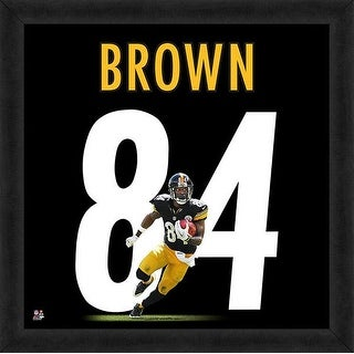 Antonio Brown Framed Pittsburgh Steelers 20x20 Jersey Photo