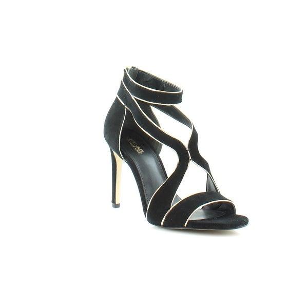 Michael Kors Harlen Women's Heels Black/ Pale Gold - 9
