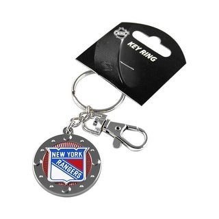 New York Rangers NHL Impact Metal Key Ring Keychain