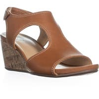 naturalizer Cinda Wedge Sandals, Maple Leather