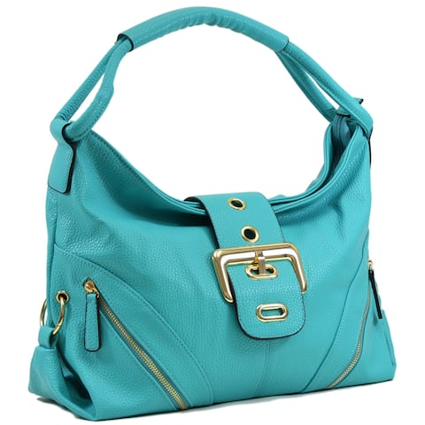 Dasein® Classic Hobo with Zippered Pockets