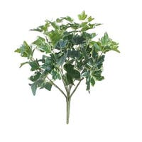 """19"""" Decorative Artificial Two Tone Green and White Sweet Potato Spring Floral Bush"""
