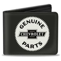 1920 Genuine Chevrolet Parts Seal Charcoal Tan Bi Fold Wallet - One Size Fits most