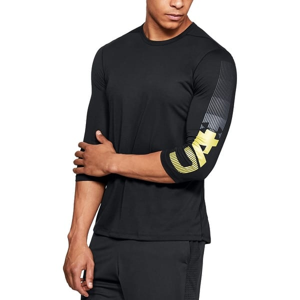 800068d7 Shop Under Armour Black Yellow Mens Size XL Fitted Graphic Tee Shirt - On  Sale - Free Shipping On Orders Over $45 - Overstock - 27984453