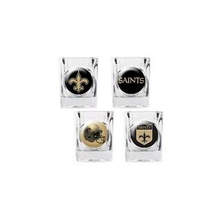 Great American Products New Orleans Saints Shot Glass Set 4pc Collectors Shot Glass Set