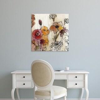 Easy Art Prints Silvia Vassileva's 'Contemporary Botanical Cream III' Premium Canvas Art