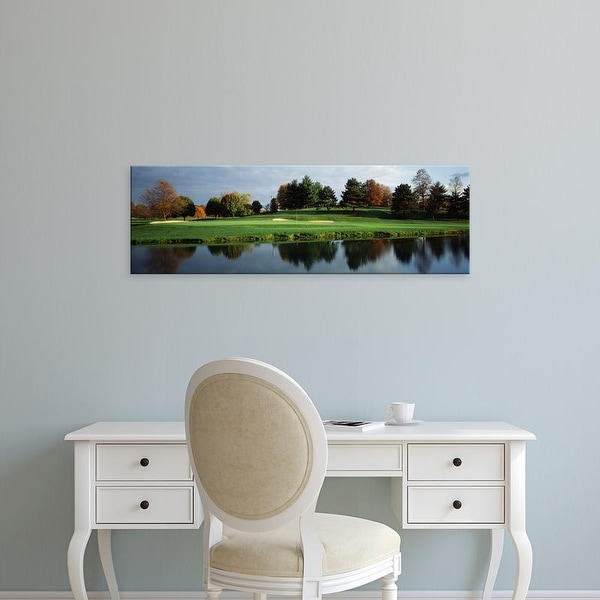 Easy Art Prints Panoramic Image 'Pond in golf course, Westwood Golf Course, Vienna, Fairfax, Virginia' Canvas Art