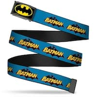 Batman Fcg Black Yellow Black Frame Vintage Batman Logo Blue Webbing Web Belt