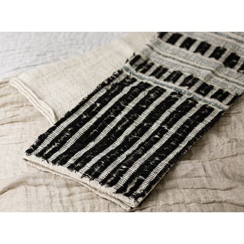 Cleo Multicolor Cotton Striped Throw Blanket