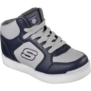 Skechers Children's S Lights Energy Lights E-Pro High Top Sneaker Navy/Gray