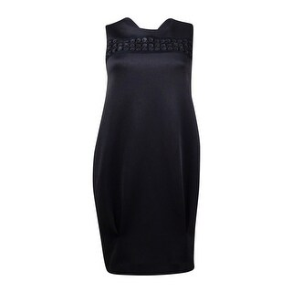RACHEL Rachel Roy Women's Sleeveless Embellished Neoprene Dress (Option: Xxl)