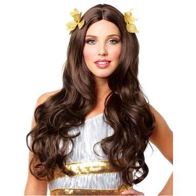 Women's Greek Goddess Halloween Wig - Brunette - Standard - One Size