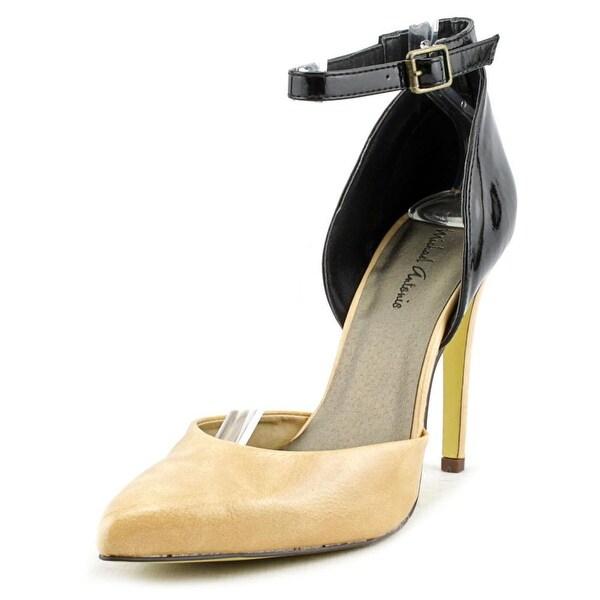 Michael Antonio Lunella Women Pointed Toe Synthetic Nude Heels