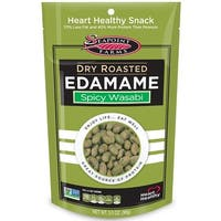 Seapoint Farms Dry Roasted Edamame - Spicy Wasabi - Case of 12 - 3.5 oz.