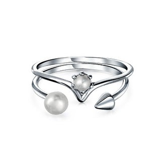 Bling Jewelry 925 Sterling Silver Freshwater Cultured Pearl Rings