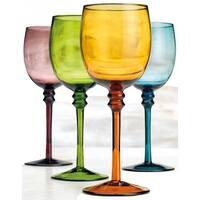 Palais Glassware Colored Wine Glass - Set of 4 (White Wine Glass 12 Oz)