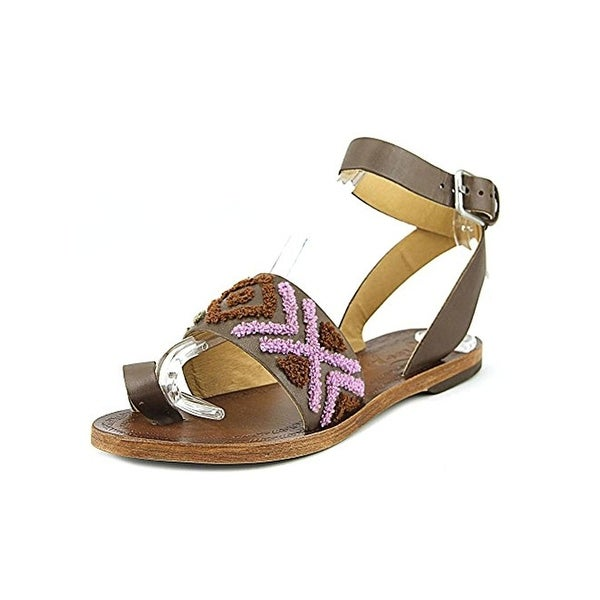 Free People Womens Torrence Flat Sandals Leather Toe Loop