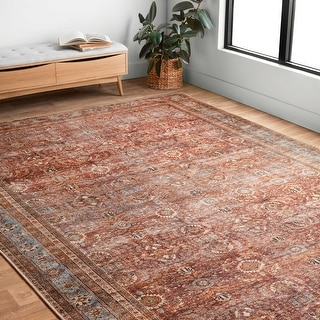 Link to Alexander Home Victoria Bohemian Printed Vintage Area Rug Similar Items in Transitional Rugs