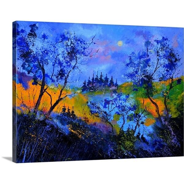 """Magic Blue Wood"" Canvas Wall Art"