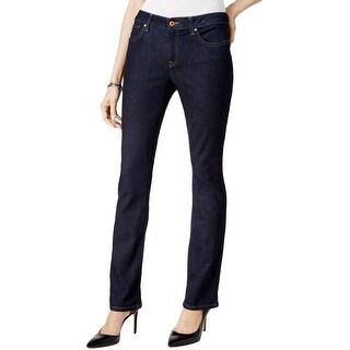 Tommy Hilfiger Womens Jeans Dark Wash Denim