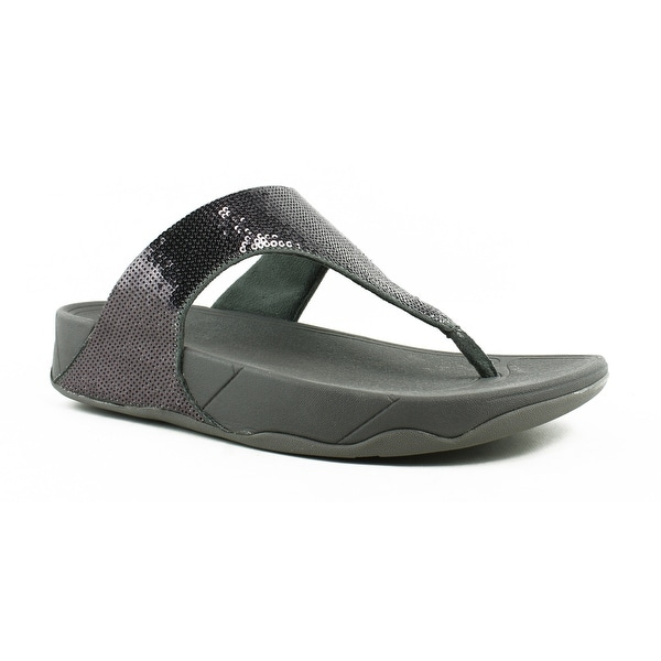 dfce57daaae1e7 Shop FitFlop Womens Electra Pewter Flip Flops Size 10 - Free ...