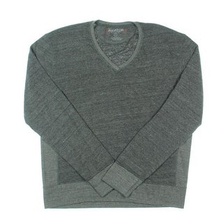 Aviator Mens French Terry V-NECK Pullover Sweater - L