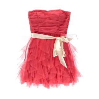 Teeze Me Womens Juniors Ruffled Strapless Party Dress - 3