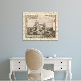 Easy Art Prints Vision Studio's 'London Bridge' Premium Canvas Art