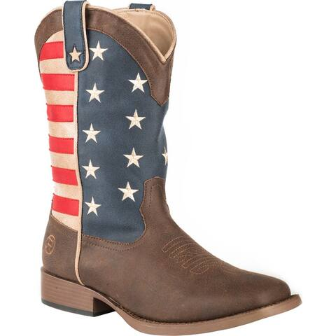 Roper American Patriotic Square Toe Kids Boys Western Cowboy