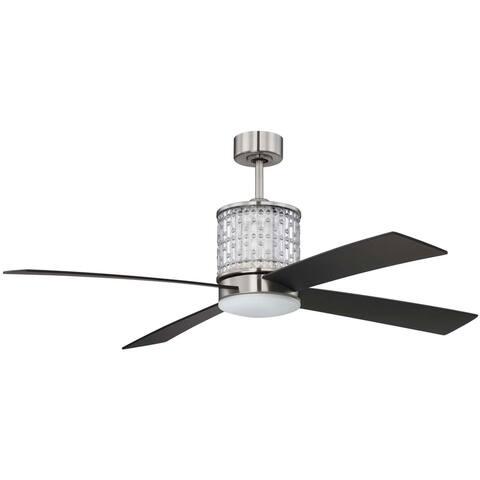 "Craftmade MAR52 Marissa 52"" 4 Blade Ceiling Fan - Blades, Remote, LED"