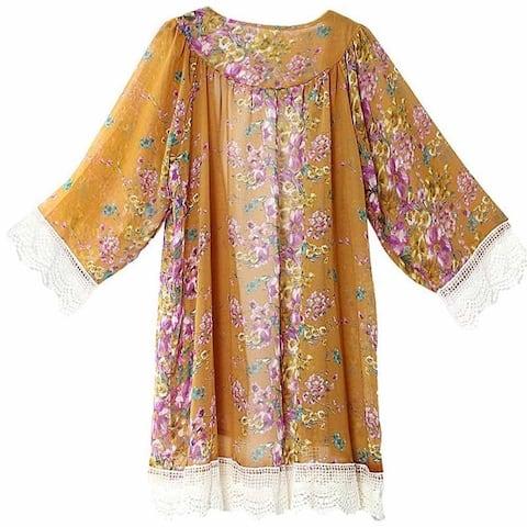 Printed Lace Stitching Shawl