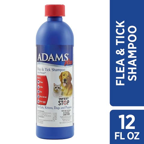 Adams Plus Flea and Tick Shampoo with Precor for Cats and Dogs