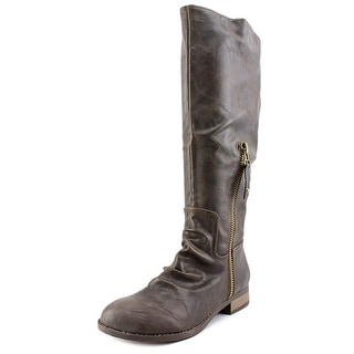 Diba Trish Riding Boot Wide Calf Women  Round Toe Synthetic  Knee High Boot