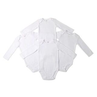 Carter's Unisex Baby 4 Pack White Long Sleeve Bodysuit Bodysuits (3 Month)