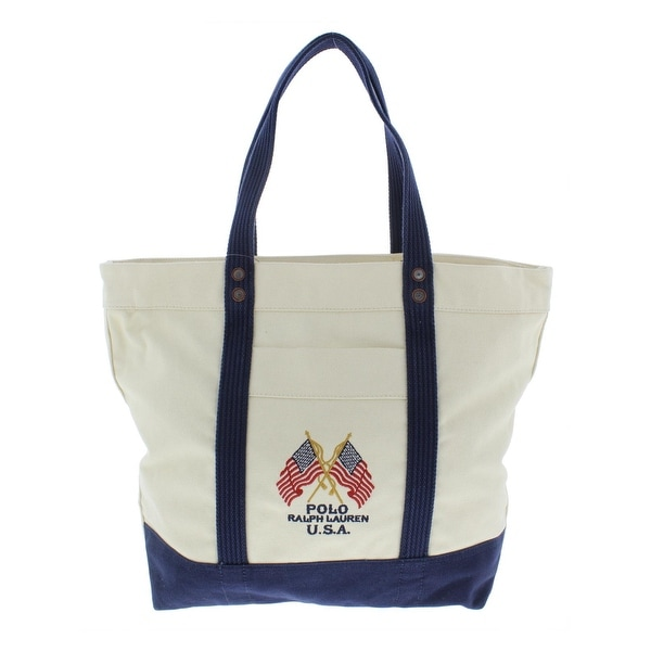 93bb73790 Shop Polo Ralph Lauren Mens Tote Canvas Shopper - LARGE - Free Shipping  Today - Overstock - 25681527