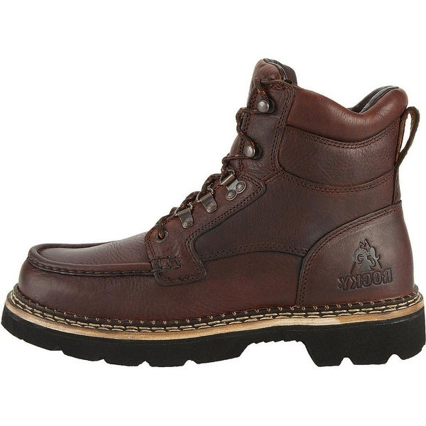 Rocky Outdoor Boots Mens Cruiser Chukka Casual Dark Brown