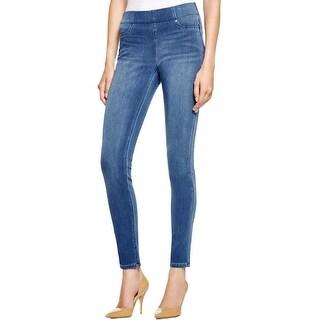 NYDJ Womens Petites Joanie Denim Leggings Slimming Fit Medium Wash