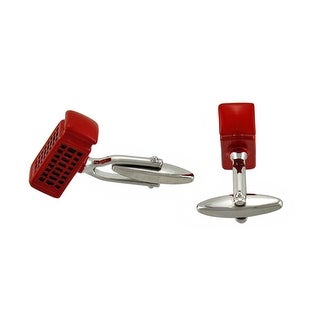 Red Enamel British Telephone Booth Cufflinks