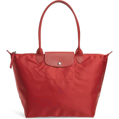 Longchamp Large Le Pliage Neo Tote Shoulder Bag, Red