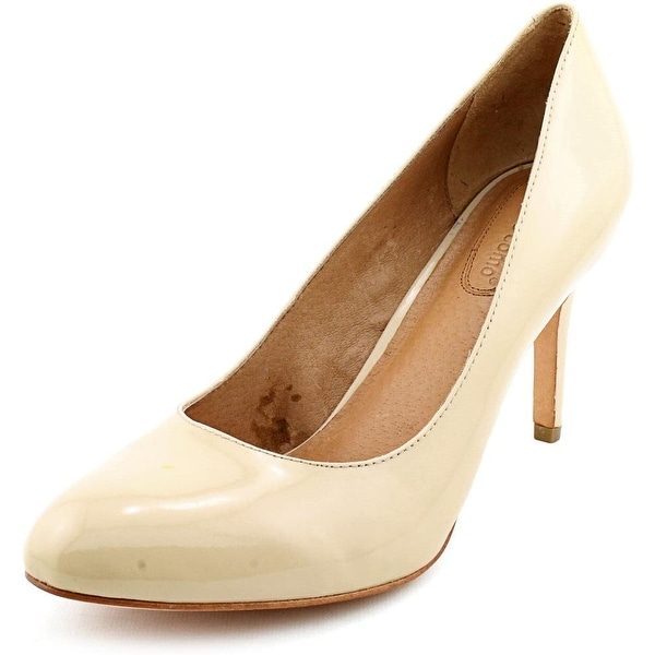 Corso Como Del Women  Round Toe Patent Leather Nude Heels