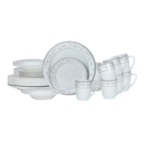 Fitz and Floyd Platinum Vine 32 piece Dinnerware Set (Service for 8)