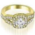 0.85 cttw. 14K Yellow Gold Antique Round Cut Diamond Engagement Ring - Thumbnail 0