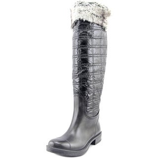 Dirty Laundry Regalia Women Round Toe Canvas Black Knee High Boot