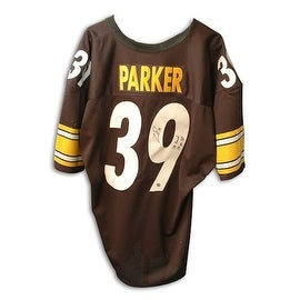 "Autographed Willie Parker Steelers Jersey inscribed ""SB Record 75 YD TD Run"""