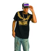 Ghetto Blaster Shirt Costume Adult Standard - Black